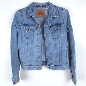 Levi's Vintage Blue Distressed Denim Jean Jacket